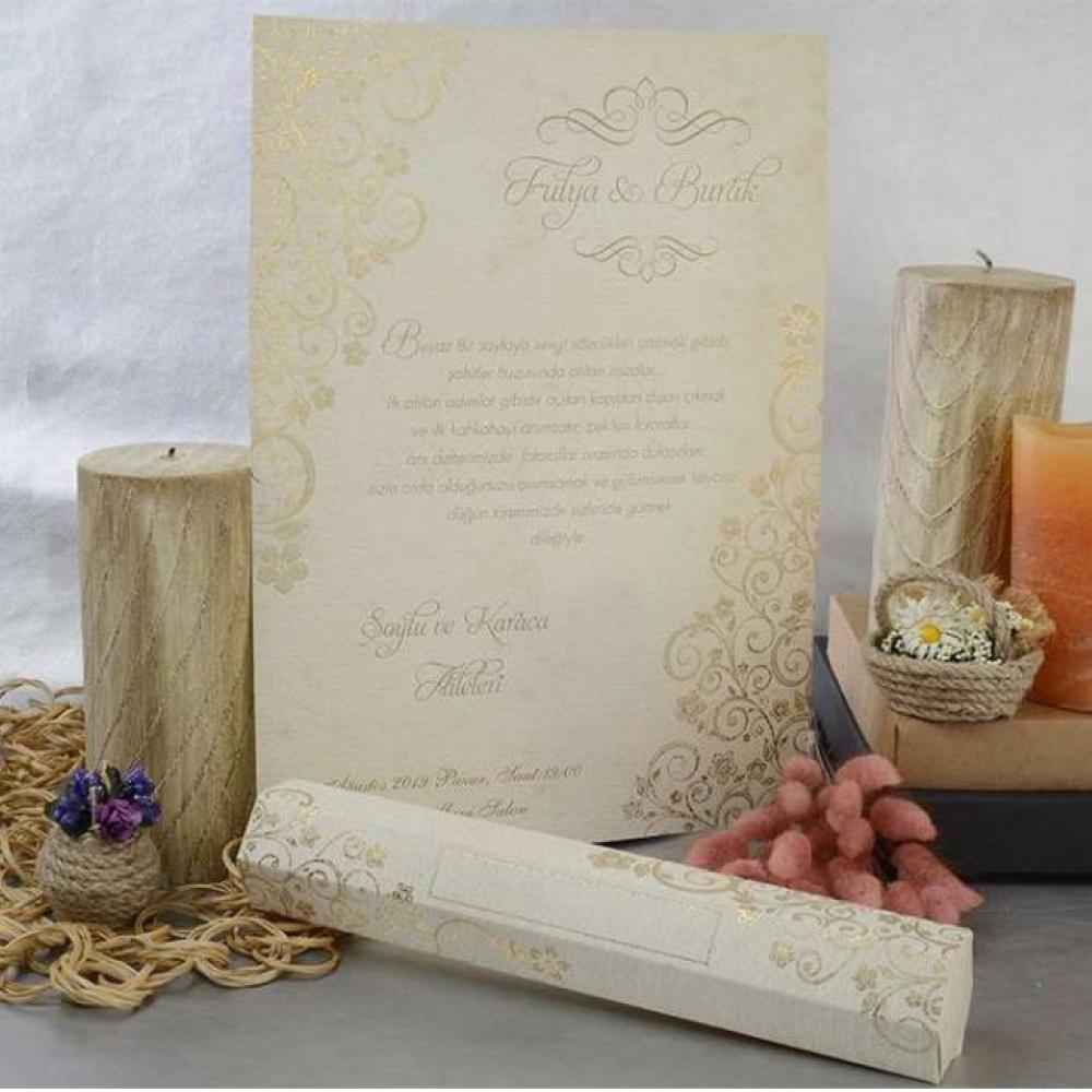 Сватбени покани - Свитък в кутийка