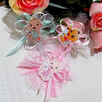Подаръчета за кръщене със стикери на бебета