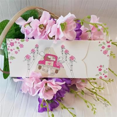 Сватбени покани в розово