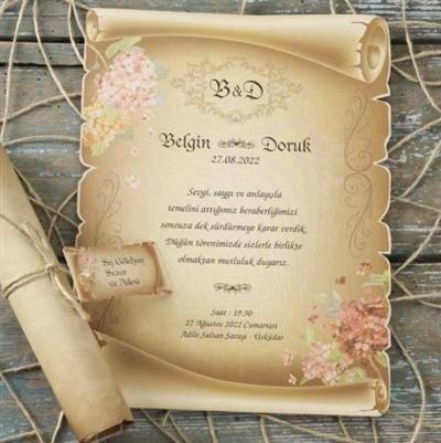 Сватбени покани - Папируси