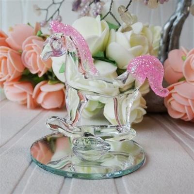 Стъклено конче в розово