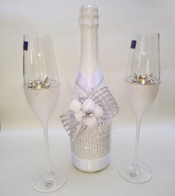 Луксозен комплект Ритуални чаши и шампанско
