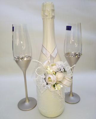 Луксозни Ритуални чаши в комплект с шампанско