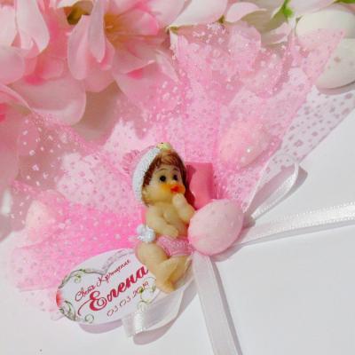 Фигурка на розово бебе