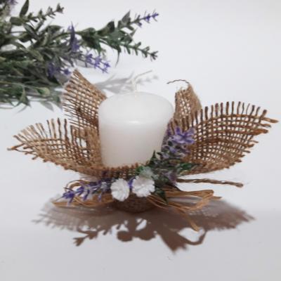 Свещи със зебло и лавандула
