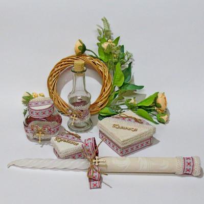 Комплект за кръщене с дървени куклички